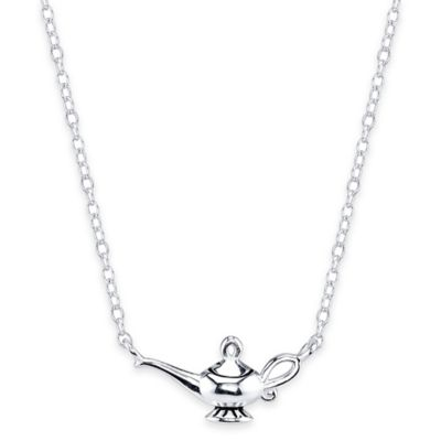 Disney® Sterling Silver Aladdin's Lamp 16-Inch Chain Pendant Necklace