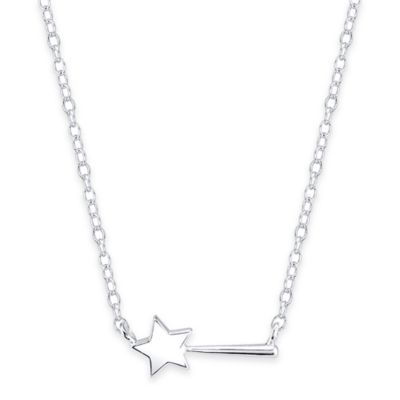 Disney® Sterling Silver Magic Wand 16-Inch Chain Pendant Necklace