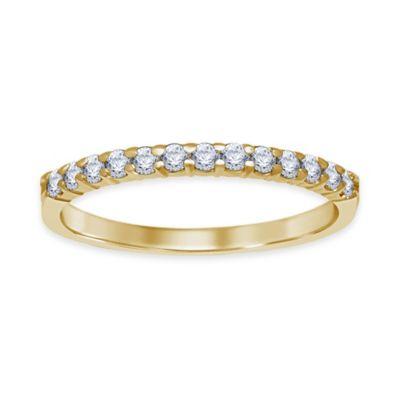 14K Yellow Gold 1.0 cttw Diamond Prong Set Size 7 Ladies' Wedding Band