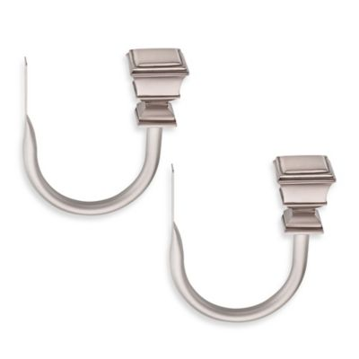 Cambria® Connections Double Window Curtain Holdbacks in Nickel (Set of 2)