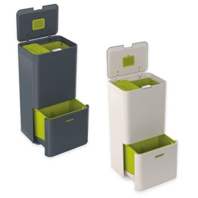 Joseph Joseph® IntelligentWaste® Totem 60 Liter Waste Separation/Recycling Unit in Stone