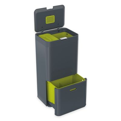 Joseph Joseph® IntelligentWaste® Totem 60 Liter Waste Separation/Recycling Unit in Graphite