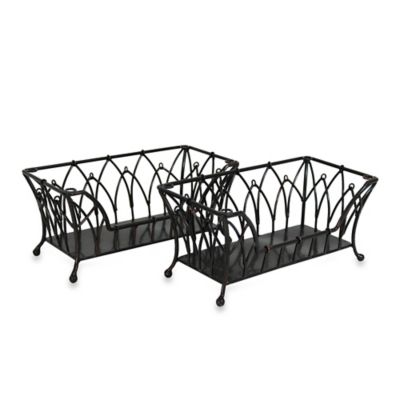 Mesa Mystic Iron Stacking Basket in Antique Black