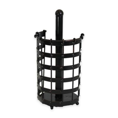 Mesa Old Country Iron Paper Towel Holder in Antique Black