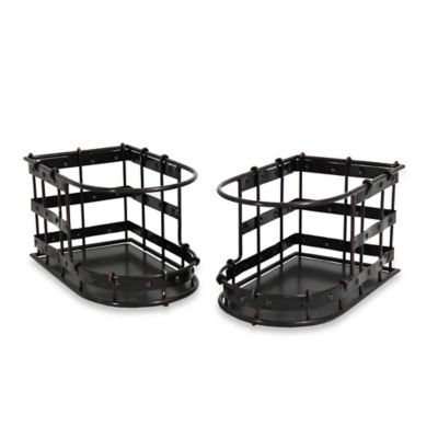 Mesa Old Country Iron Stacking Basket in Antique Black