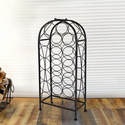 Mesa 20-Bottle Wine Rack in Antique Black