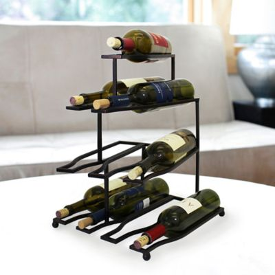 Mesa Design 10-Bottle Wine Rack in Antique Black