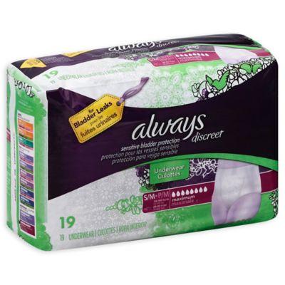 Always® Discreet 19-Count Small/Medium Maximum Underwear for Incontinence