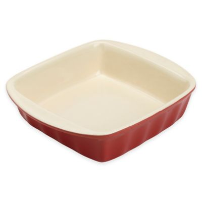 Bradshaw Square 2 qt. Ceramic Baking Dish in Red