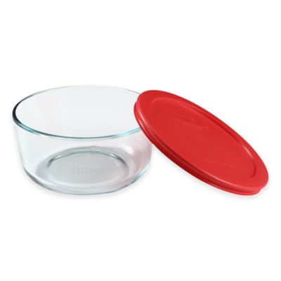 Pyrex® Storage Plus 4-Cup Round Glass Bowl with Cover