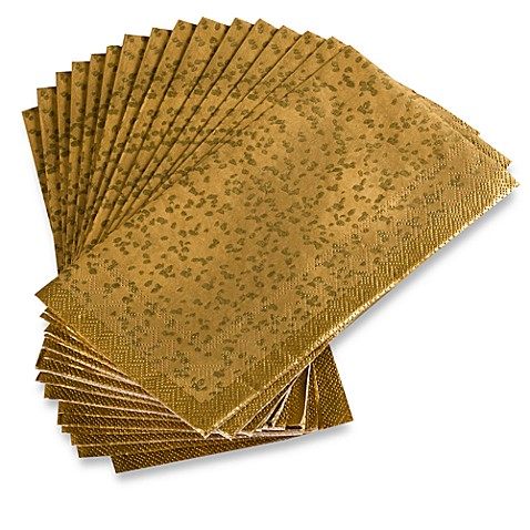 Nicole Miller® Gold Rush Disposable Buffet/Guest Towels (Set of 16)
