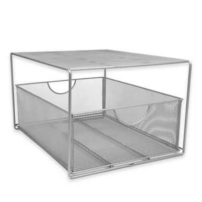 Seville Classics Mesh Slide-Out Cabinet Drawer with Shelf