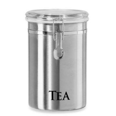 "Oggi™ 60 oz. Stainless Steel ""Tea"" Canister"