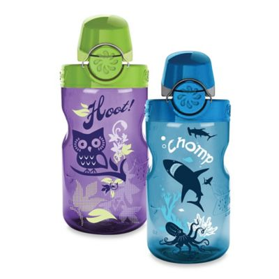 Nalgene® 12 oz. On the Fly Chomp Kids Water Bottle in Purple