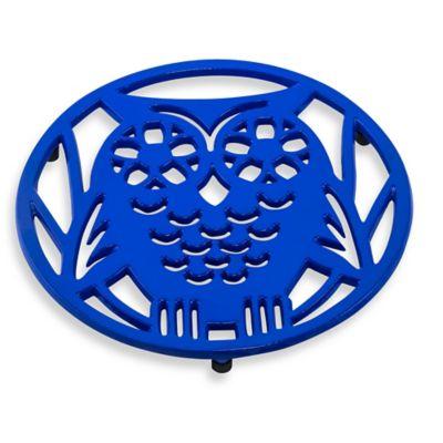 Old Dutch International Wise Owl Trivet in Dazzling Blue