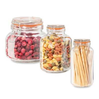 Oggi™ 34 oz. Glass Canister with Clamp Lid