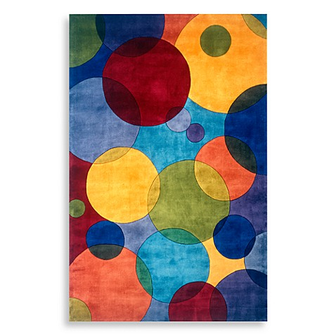 "New Wave NW37 Multi-Colored 5' 9"" Round Room Size Rug"