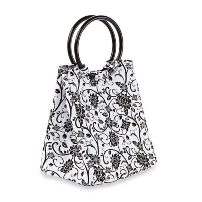 Fit & Fresh® Kids Lauren Insulated Lunch Bag in Black and White Ebony