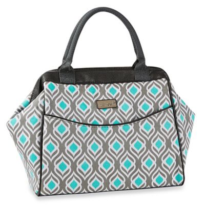 Fit & Fresh® Sydney Leaf Print Insulated Lunch Tote in Gray