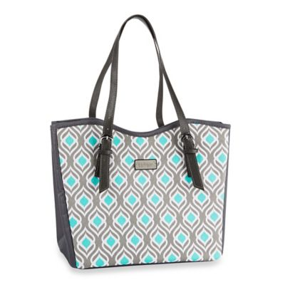 Fit & Fresh® Perth Leaf Print Lunch Bag in Grey
