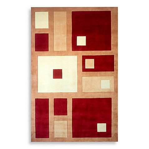 "New Wave NW50 Red 5' 3"" x 8' Room Size Rug"