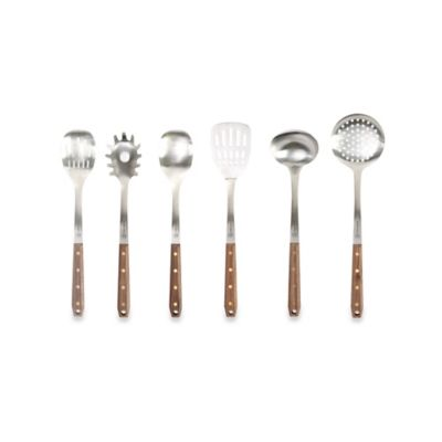 Schmidt Brothers® Brass Walnut 7-Piece Kitchen Tool Set with Holding Stand