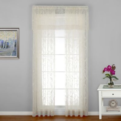 Coventry 63-Inch Window Curtain Panel with Trim in Ivory