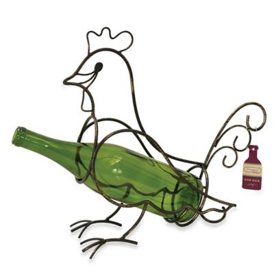 Boston Warehouse® Vineyard Road Rooster Wine Bottle Holder