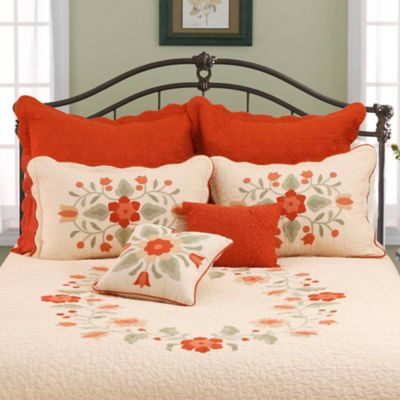 Orange Standard Pillow Shams