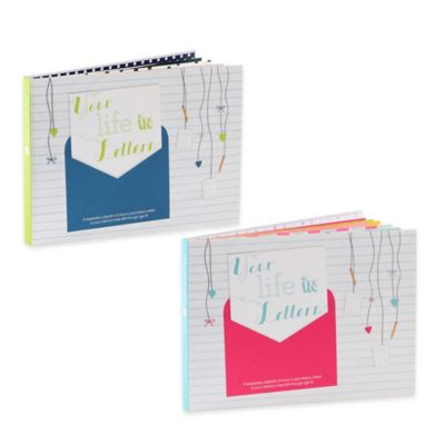 """""""Your Life in Letters"""" Child's Keepsake Book in Pink"""