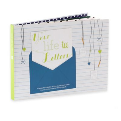 """Your Life in Letters"" Child's Keepsake Book in Blue"