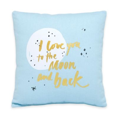 "About Face Designs ""I Love You to the Moon and Back"" Throw Pillow"