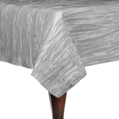 Delano 90-Inch Square Tablecloth in Platinum