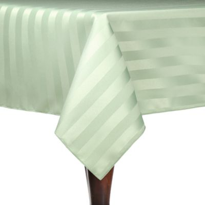 Poly-Stripe 54-Inch x 54-Inch Square Indoor/Outdoor Tablecloth in White