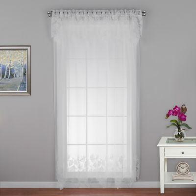 Woodland 63-Inch Window Curtain Panel in White