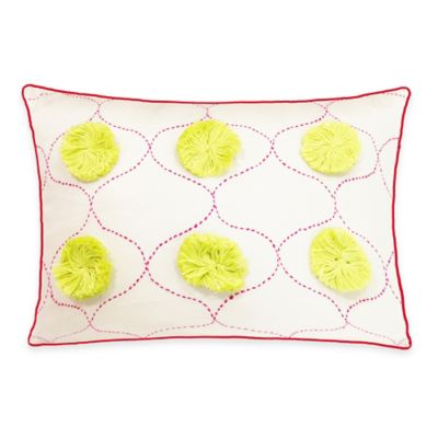 SPUN™ by Welspun Threads With a Soul The Taj Dots Handcrafted Throw Pillow