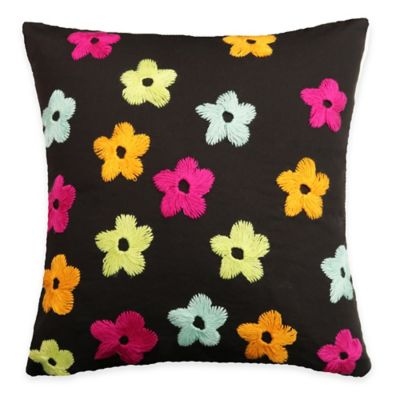 SPUN™ by Welspun Threads With a Soul Spring Flowers Handcrafted Throw Pillow