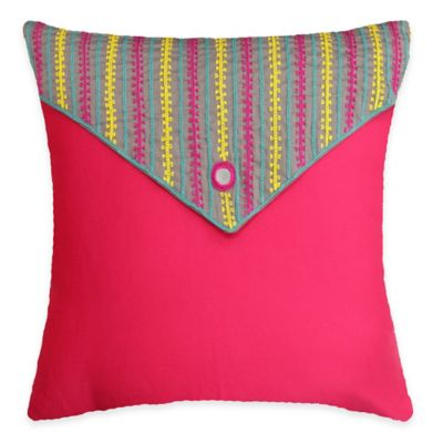 SPUN™ by Welspun Threads With a Soul Pink Love Handcrafted Throw Pillow