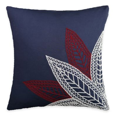 SPUN™ by Welspun Threads With a Soul White Petals Handcrafted Throw Pillow