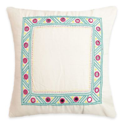 SPUN™ by Welspun Threads With a Soul Turquoise Mirror Handcrafted Throw Pillow
