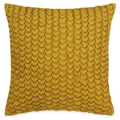 SPUN™ by Welspun Threads With a Soul Smocking Handcrafted Throw Pillow in Gold