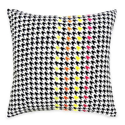 SPUN™ by Welspun Threads With a Soul Houndstooth Handcrafted Throw Pillow