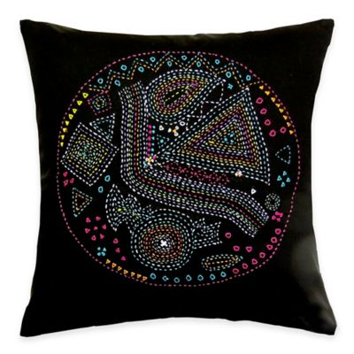 SPUN™ by Welspun Threads With a Soul Retro Handcrafted Throw Pillow