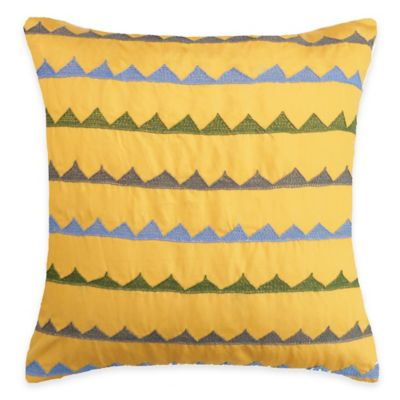 SPUN™ by Welspun Threads With a Soul Triangles Handcrafted Throw Pillow