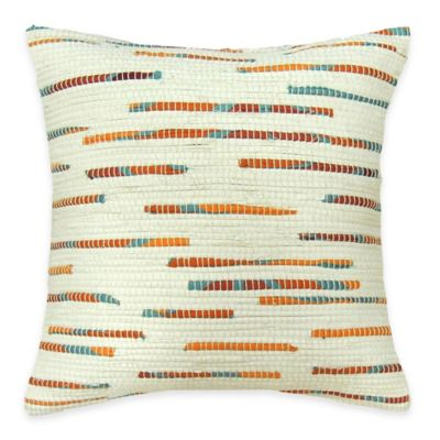SPUN™ by Welspun Threads With a Soul Tangerine Dream Handcrafted Throw Pillow