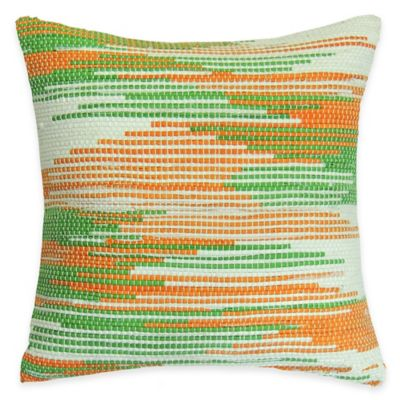 SPUN™ by Welspun Threads With a Soul Saffron Beauty Handcrafted Throw Pillow