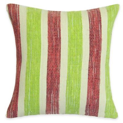 SPUN™ by Welspun Threads With a Soul Lime Splash Handcrafted Throw Pillow