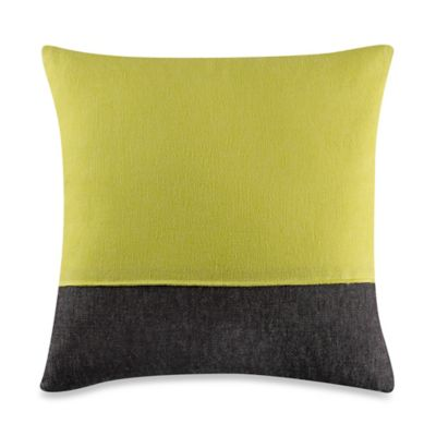 Kenneth Cole Reaction Home Mineral Blocked Square Throw Pillow in Yellow