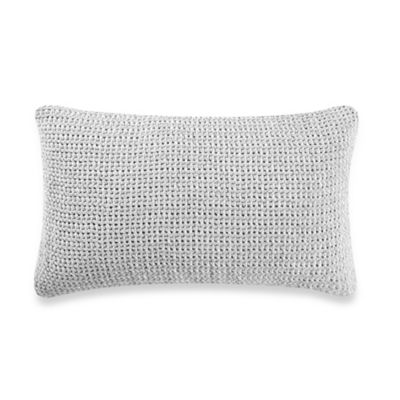 Kenneth Cole Reaction Home Mineral Cheille Oblong Throw Pillow in Blue