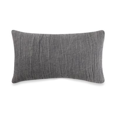 Kenneth Cole Reaction Home Mineral Mini Waffle Oblong Throw Pillow in Grey